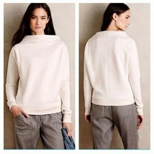 Cream Funnel Neck Sweater || Anthropologie